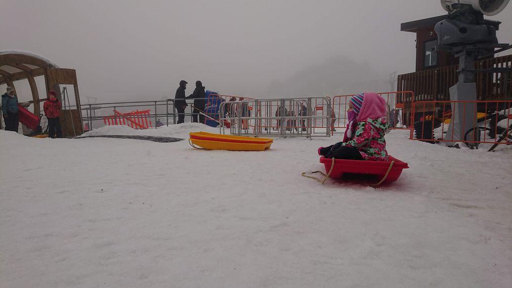 紐西蘭雪場打工度假 sledding