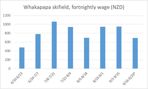 紐西蘭雪場薪水
