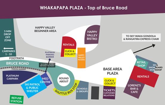 Whakapapa雪場地圖