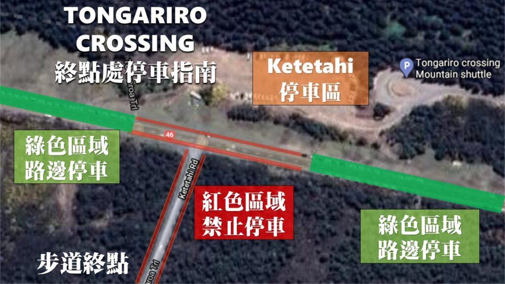 Tongariro crossing 停車地圖