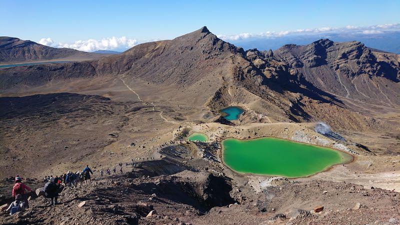 tongariro 紐西蘭爬山湖泊
