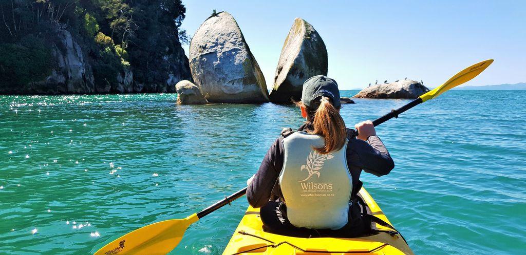紐西蘭 abel tasman split apple rock 滑獨木舟