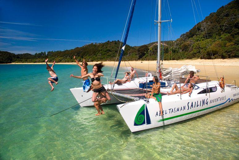 紐西蘭Abel tasman 帆船 划船